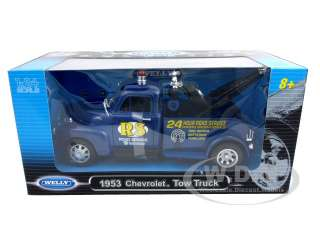 Brand new 124 scale diecast model of 1953 Chevrolet 3800 Tow Truck