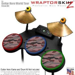Camouflage Pink Skin by WraptorSkinz fits Guitar Hero 4