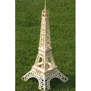 Wooden Building of the Eiffel Tower Model Toys & Games