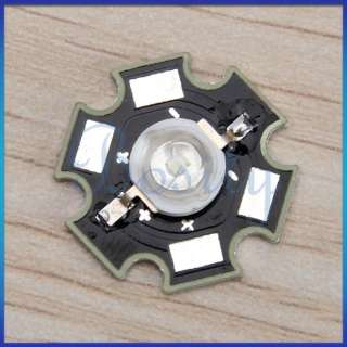 10pcs 3W High Power Bright Star LED Light Lamp Bulb Blue 80LM 470NM