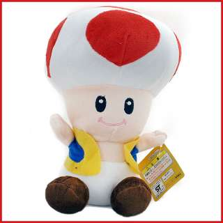 Super Mario Bros Red Toad Plush Mushroom Doll 12