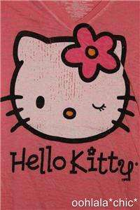 HELLO KITTY Pink Wink L.O.L. Vintage T Shirt Tee NEW
