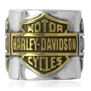 Harley Davidson® Bar & Shield Sterling Silver with Multi Gold Plating