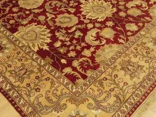 8x10 Handmade Vegetable Dye Hand Spun Silk Wool Sultanabad Chobi Room