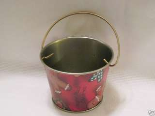 Ro Gregg Brother Sister Tin Rustic Pail Bucket Christmas gingerbread