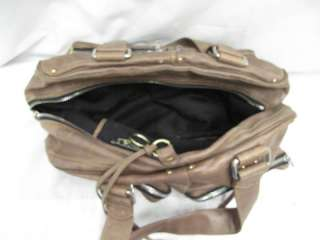 Chloe Brown Distressed Leather Multi Pocket Betty Bag W/Silver & Gold