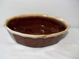 McCoy Pottery Brown Drip 1.5Qt. Oval Baker