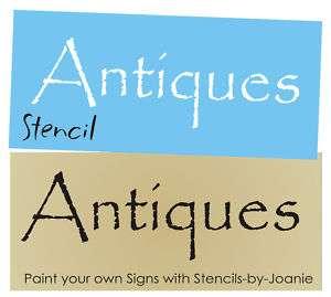 Stencil Antiques Primitive Blocks Signs Collectibles