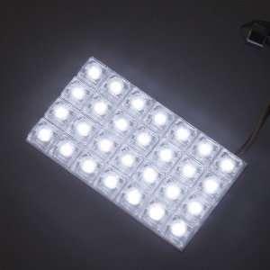 White Car Auto 28 LED Dome Door Box Light Lamp Bulbs