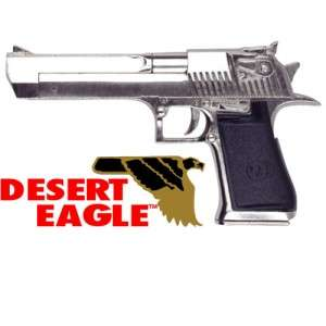 Desert Eagle Pistol Nickel Metal Replica Gun Robocop Chrome IMI Denix
