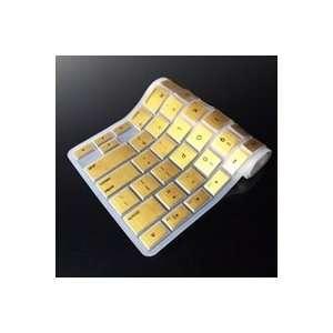TopCase METALLIC GOLD Keyboard Silicone Cover Skin for Macbook