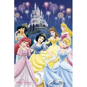 Disney Princesses Glitter and Glamour Cartoon Movie Poster