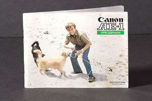 Canon AE 1 Program Genuine Instruction Book