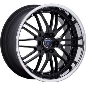Nissan Lexus Staggered Wheels Rims Black Chrome 4pc 1set Automotive