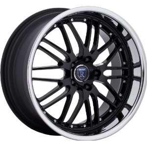 Nissan Lexus Staggered Wheels Rims Black Chrome 4pc 1set Automotive
