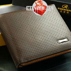 Men Leather Wallet Pockets Card Clutch Cente Bifold Purse D1109 234