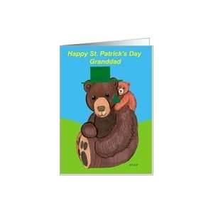 St. Patricks Day Granddad Teddy Bears Card Health