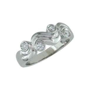 Fushia   size 4.50 14K Gold White Gold Diamond Ring