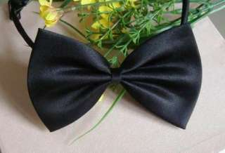Wholesale 50 Pet Dog Cat handsome bow tie Necktie black