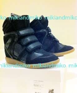 LAST PAIR Isabel Marant BLACK WILA sneakers Bekkett Willow 38