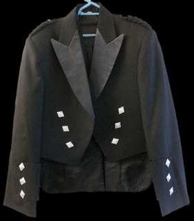 Boys Prince Charlie Kilt Jacket & Vest   Size 20   34