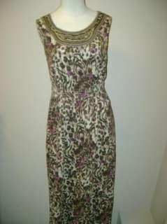 Charter Club Animal Print Peasant Dress NWT $45