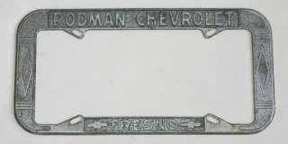 Rodman Chevrolet Dealer Fresno, California License Plate Frame