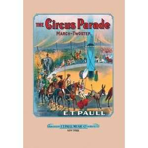 Circus Parade March and Two Step   20x30 Gallery Wrapped