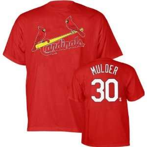 Mark Mulder Red Majestic Name and Number St. Louis Cardinals T Shirt
