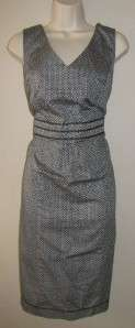 LANE BRYANT NWT Black White Print MID CALF LENGTH DRESS Size 14 D013