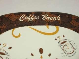 Brown White Coffee Cup Break table Dinner serving plate