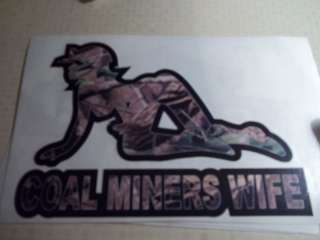 Camo Coal Miners Wife Coal Mining Sticker