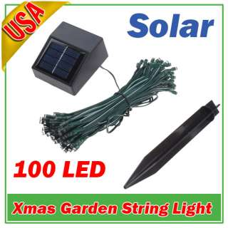 Solar Power 100 LED String Fairy Light Xmas Party Blue