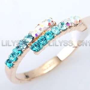 32ct Multi Colored Ring use Swarovski Crystal 575RY