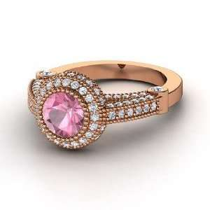 Vanessa Ring, Round Pink Tourmaline 14K Rose Gold Ring