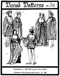 Misses, Mens Medieval/Renaissance Costume Pattern S XL