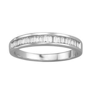 1/4 Carat Baguette Diamond 14k White Gold Wedding Ring