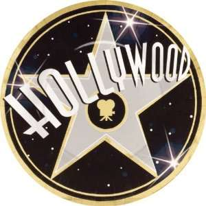 Hollywood 10 Metallic Dinner Plates (8 count) Toys & Games