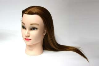High quality human hair cosmetology mannequin training head. True size