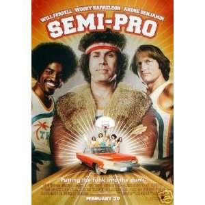 Semi Pro Original 27x40 Double Sided Movie Poser   No A