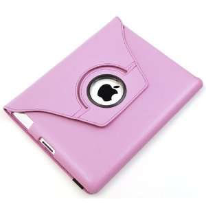 ATC Pink Screen Protector PU leather case for Apple iPad 2