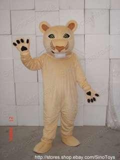 COUGAR LION ADULT MASCOT COSTUME OUFIT FANCY DRESS HALLOWEEN