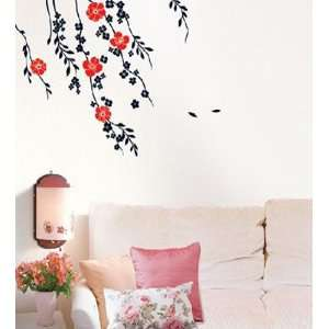 Soft Wind & Flower Decor Mural Sticker Wallpaper LWST 12