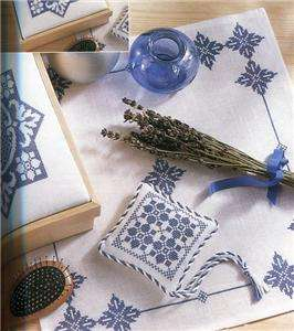 Labores Extra #48 100 Page Cross Stitch Book   Blue&White, Sunflowers