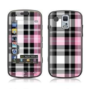 Pink Plaid Design Protector Skin Decal Sticker for Samsung