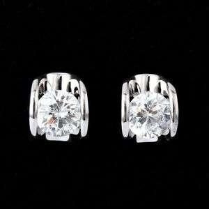 ARINNA stainless Fashion pierced Earrings Swarovski Crystals White