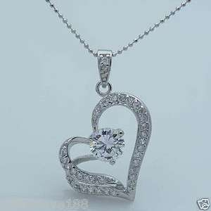 H4288 New Fashion Jewelry Womens Crystal Heart Shaped Pendant