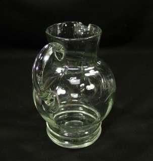 ART DECO BOHEMIAN CUT GLASS WATER WINE PITCHER EWER JUG
