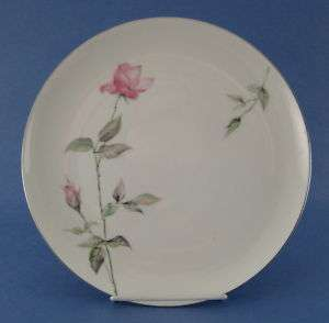 VINTAGE Sango Dawn Rose Dinner Plate Pink Rosebuds CHIP