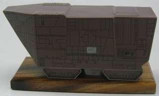 Sandcrawler Star Wars Jawa Vehicle Wood Model Free Ship